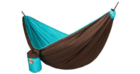 La Siesta Colibri hangmat gevoerd bruin/turquoise